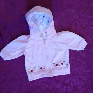 Adorable 3m Pink Cherry Hooded Jacket by Carter's